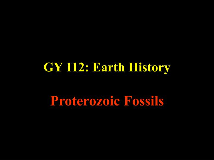 Gy 112 earth history