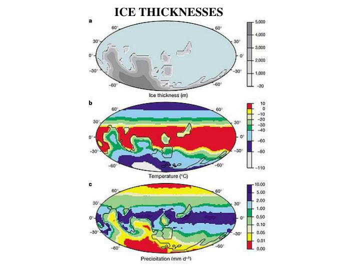 ICE THICKNESSES