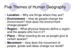five themes of human geography