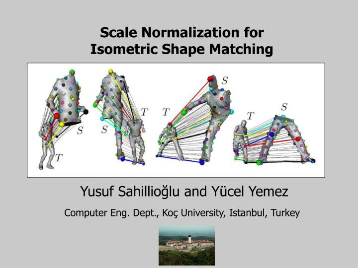 scale normalization for isometric shape matching n.
