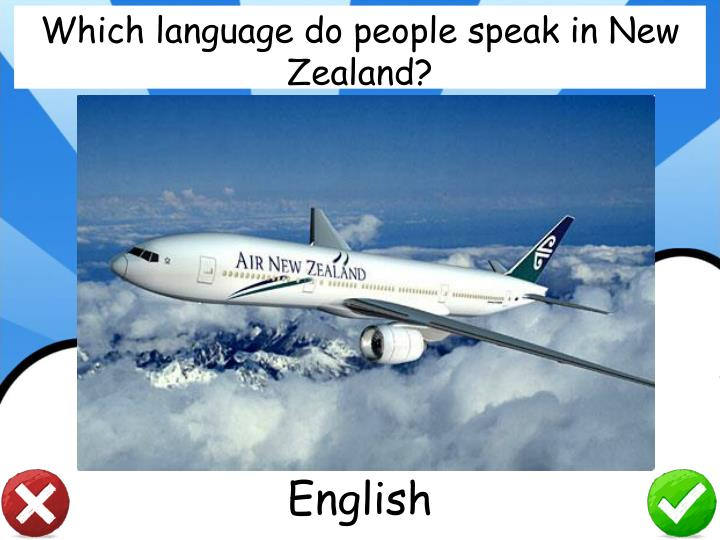 Which language do people speak in New Zealand?