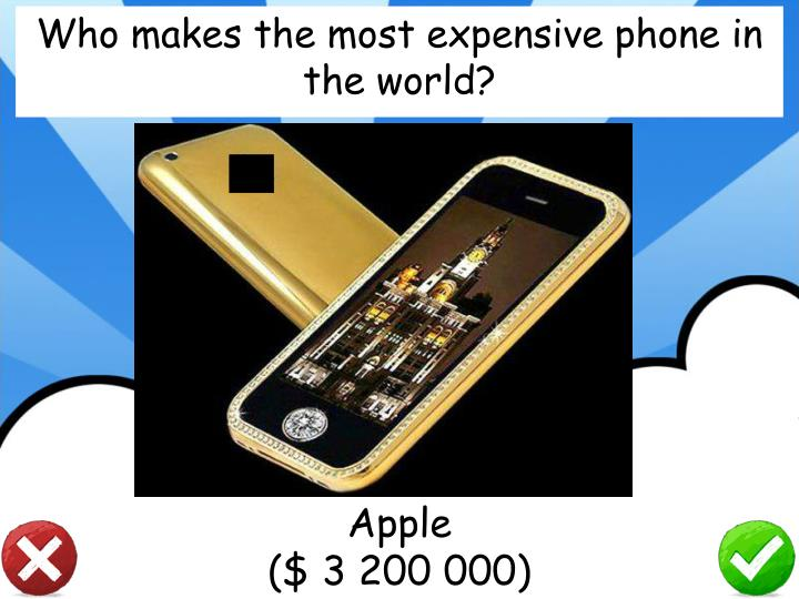 Who makes the most expensive phone in the world?