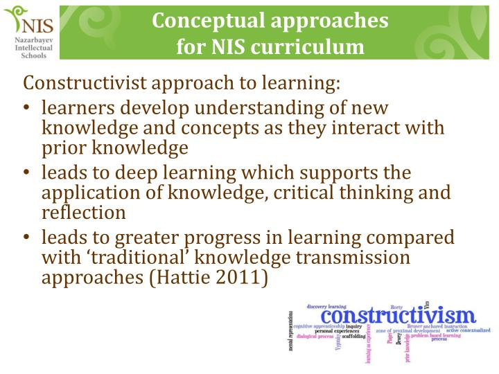 Conceptual approaches