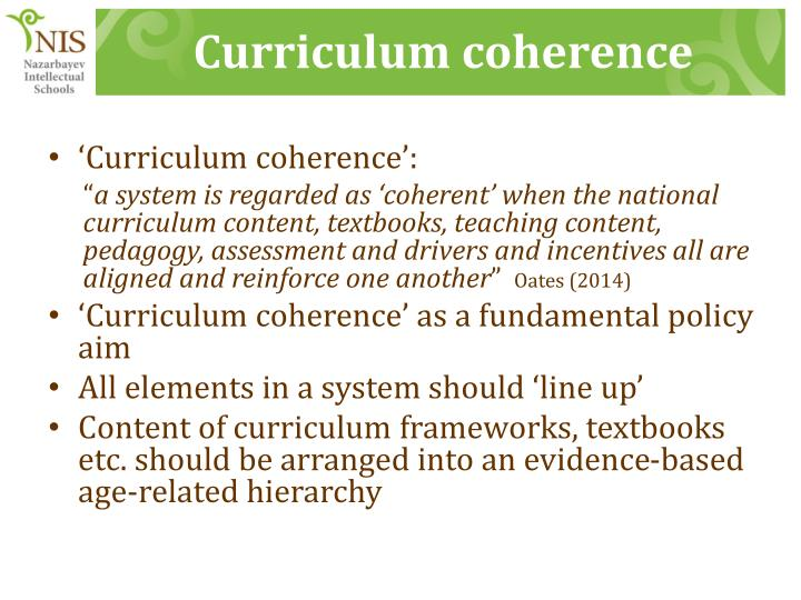 Curriculum coherence