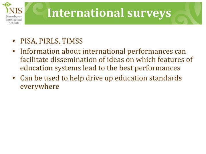 International surveys