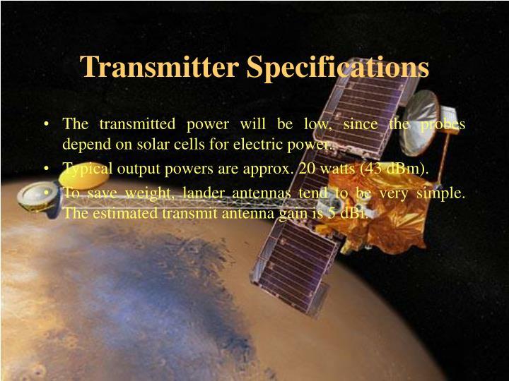 Transmitter Specifications