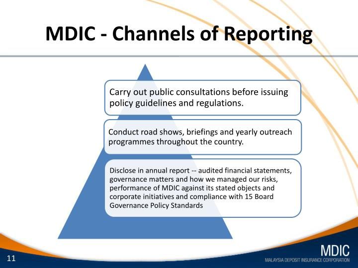 MDIC - Channels of Reporting