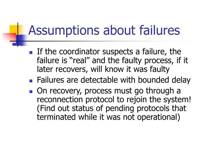 Assumptions about failures