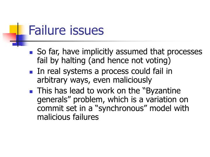 Failure issues