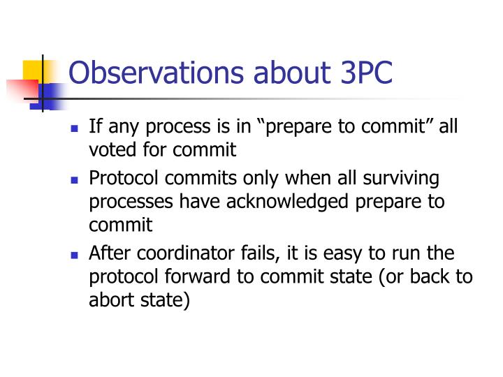 Observations about 3PC
