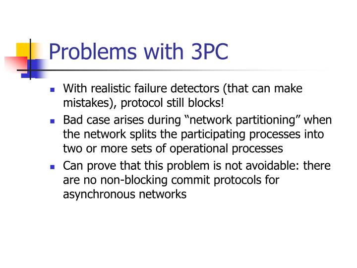 Problems with 3PC