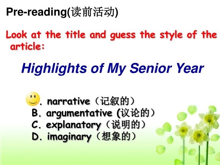 Pre-reading(