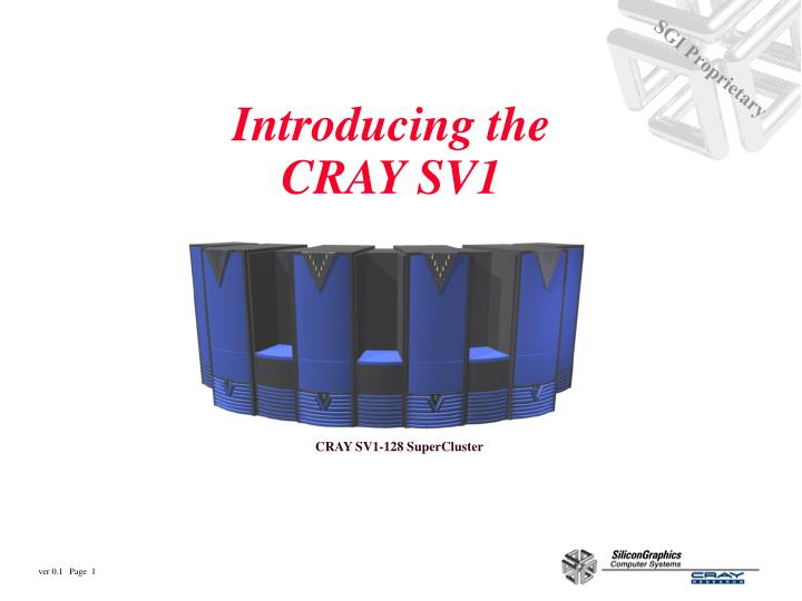 introducing the cray sv1 n.