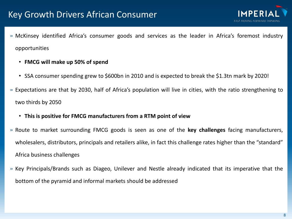 PPT - IMPERIAL Logistics Africa Investors Presentation PowerPoint