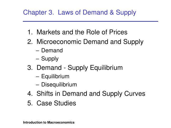 Chapter 3 laws of demand supply