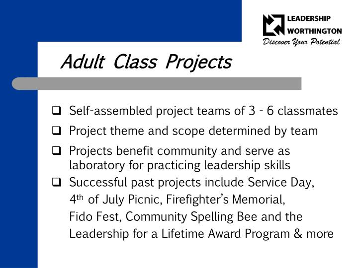 Adult Class Projects
