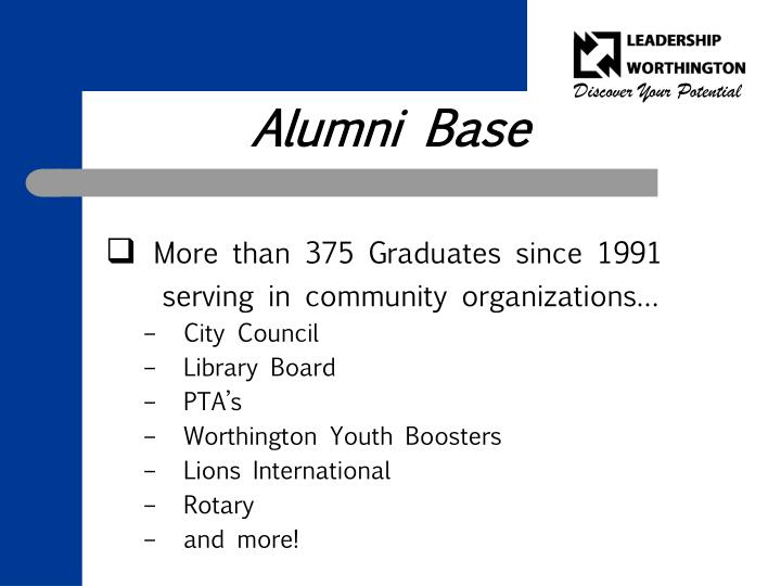Alumni Base