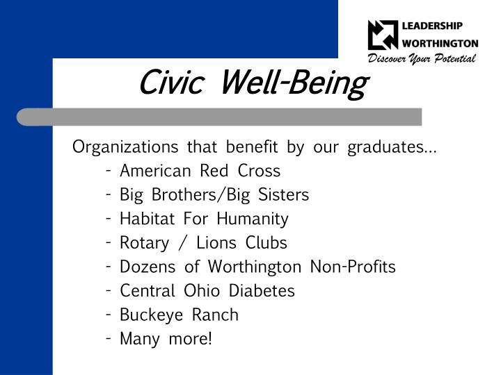 Civic Well-Being