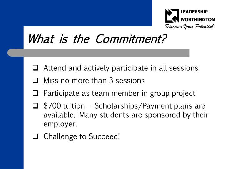 What is the Commitment?