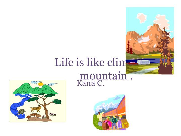 Life is like climbing a mountain .