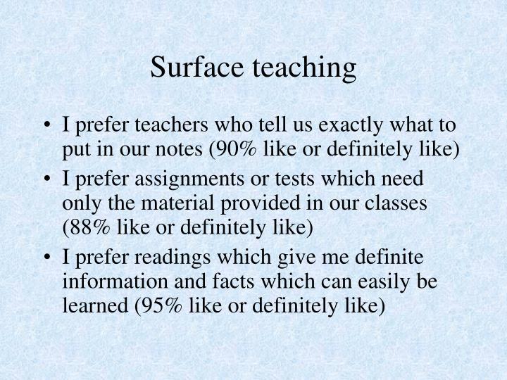 Surface teaching
