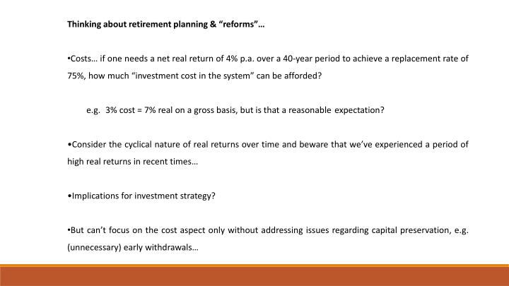 """Thinking about retirement planning & """"reforms""""…"""