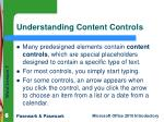 understanding content controls