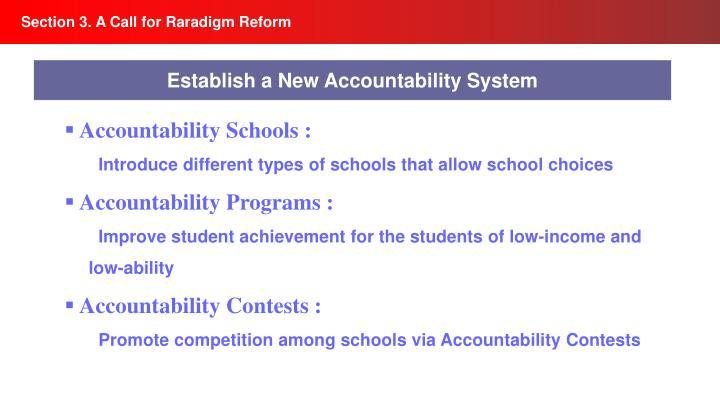 Section 3. A Call for Raradigm Reform