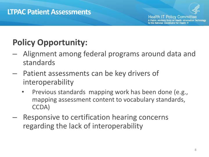 LTPAC Patient Assessments