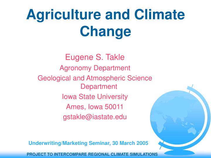 agriculture and climate change n.