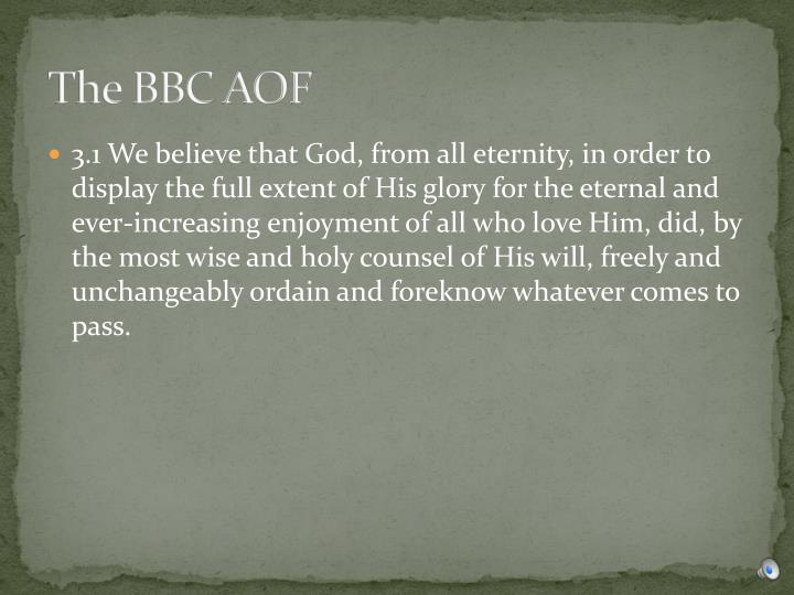 The BBC AOF