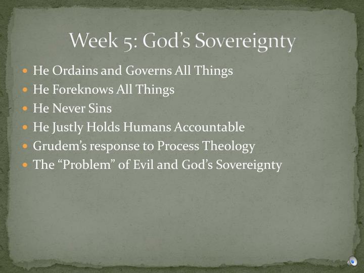 Week 5: God's Sovereignty