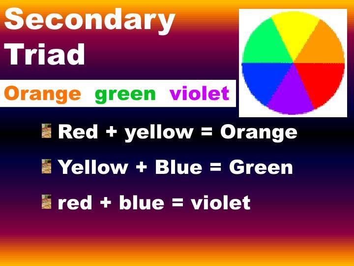 Secondary Triad