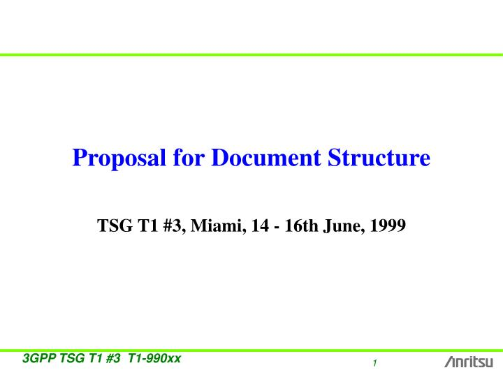 proposal for document structure n.