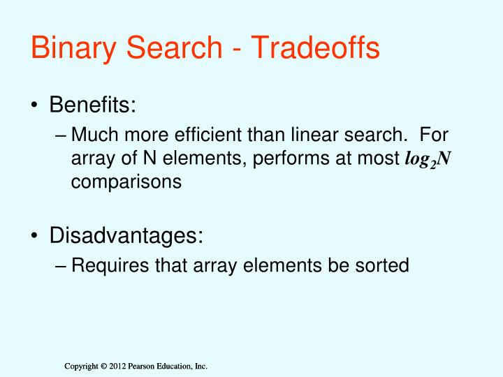 Binary Search - Tradeoffs