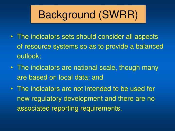 Background (SWRR)
