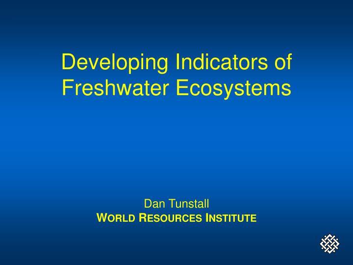 Developing Indicators of