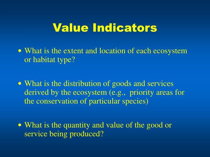 Value Indicators