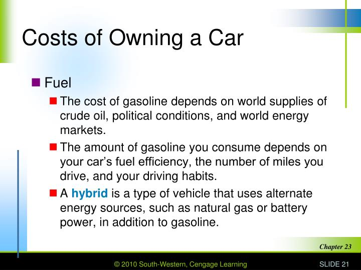Costs of Owning a Car