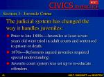 the judicial system has changed the way it handles juveniles