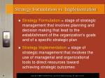 strategy formulation vs implementation