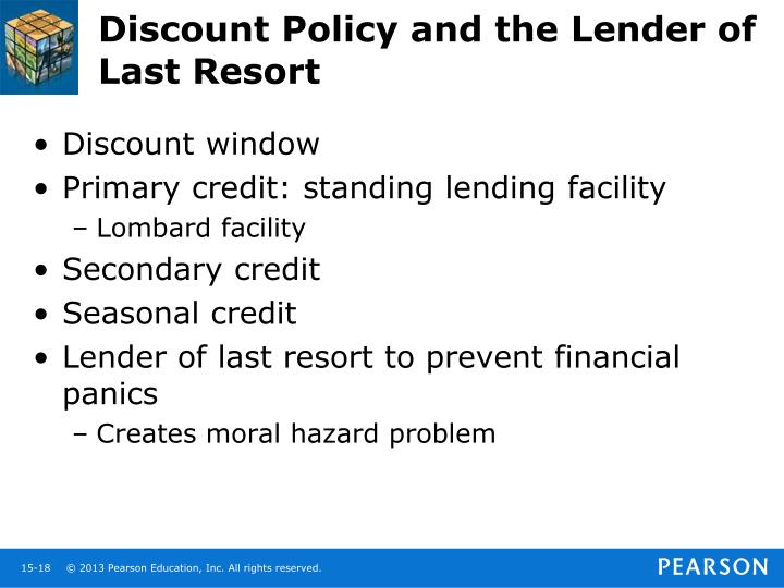 Discount Policy and the Lender of Last Resort