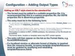 configuration adding output types