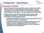 configuration export import