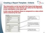creating a report template criteria2