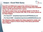 output excel web query