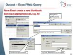 output excel web query3