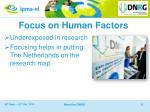 focus on human factors