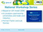 national workshop series