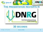 the presentation restarts in